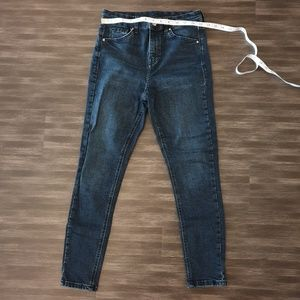 Top Shop High waisted skinny jean dark jean w 28
